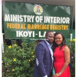 Couple shows off their marriage certificate