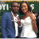 Couple shows off their wedding ring