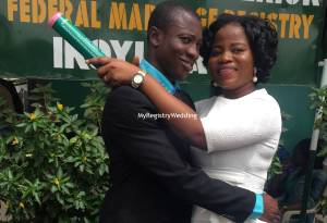 Olayinka and Olamide Salisu legalize their union on the 3rd of September 2015. See more pics after the cut...