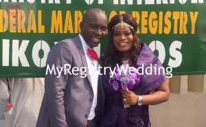 Happiness in the air as couple legally seal their relationship