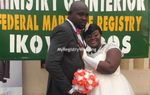Omolara and Abioye Oloye had their Registry marriage on the 21st of January 2016.