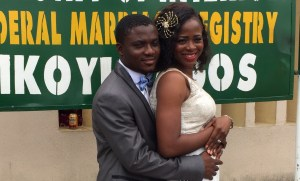 Opeyemi becomes Mrs Oluseye as she says I do to Sunday on the 14th of July 2016.