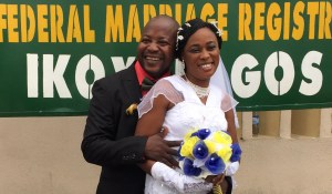 Adenike weds Felix Akinfoyeku on the 14th of July 2016 at Ikoyi Registry.A very Big congrats to the couple.