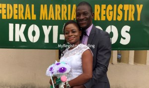 Busola vowed to love Aboyomi Kalejaye forever on the 14th of July 2016 at the marriage registry.