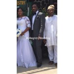 Bride with her brother and dad