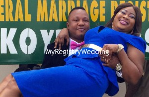 Omodolapo marries Emmanuel on the 30th of June at the marriage registry. A very Big congrats to the couple.