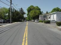 North from the middle of the street