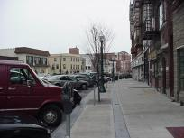 Sidewalk view to the east of 236 Mamaroneck Avenue