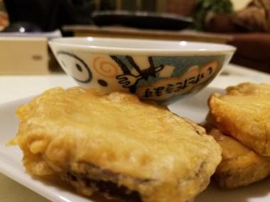 Sweet potato tempura + cute bowl #3. Itadakimasu!