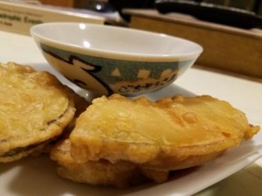 Pumpkin tempura + cute bowl #3. Gochisousama!