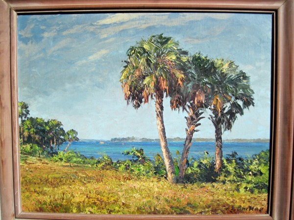 Bean Backus Florida Highwaymen Mentor Canvas Oil