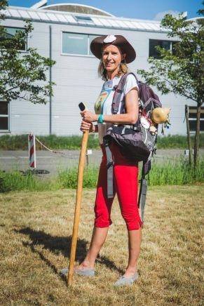 Elvira Rog van Go Camino organiseert wandeltochten naar Compostela