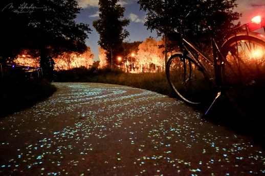 Van Gogh-Roosegaarde cycle path in Eindhoven the Netherlands