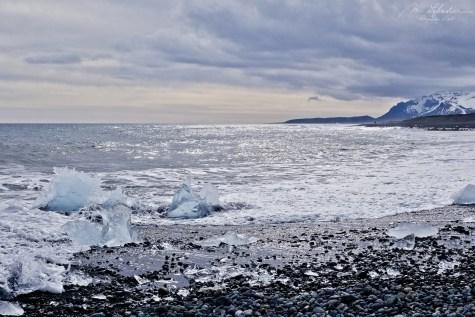 amazing Diamond Beach in Iceland