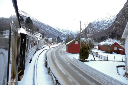 Flam railway trip in Norway from the city of Flam