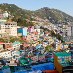 Gamcheon cultural village view Busan South Korea