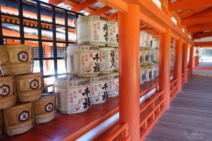 inside the Itsukushima shrine on Miyajima island Japan