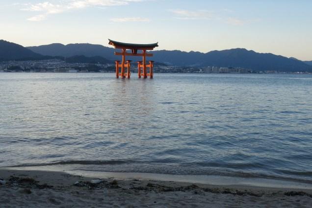 Itsukushima shrine Miyajima island Japan high tide