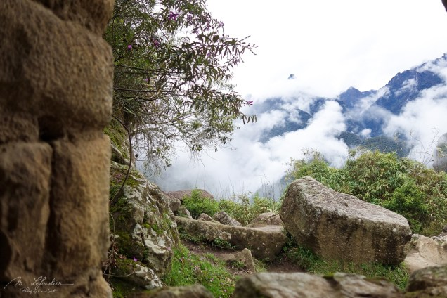 As we get into the morning, the clouds are slowly starting to clear up on the Machu Picchu