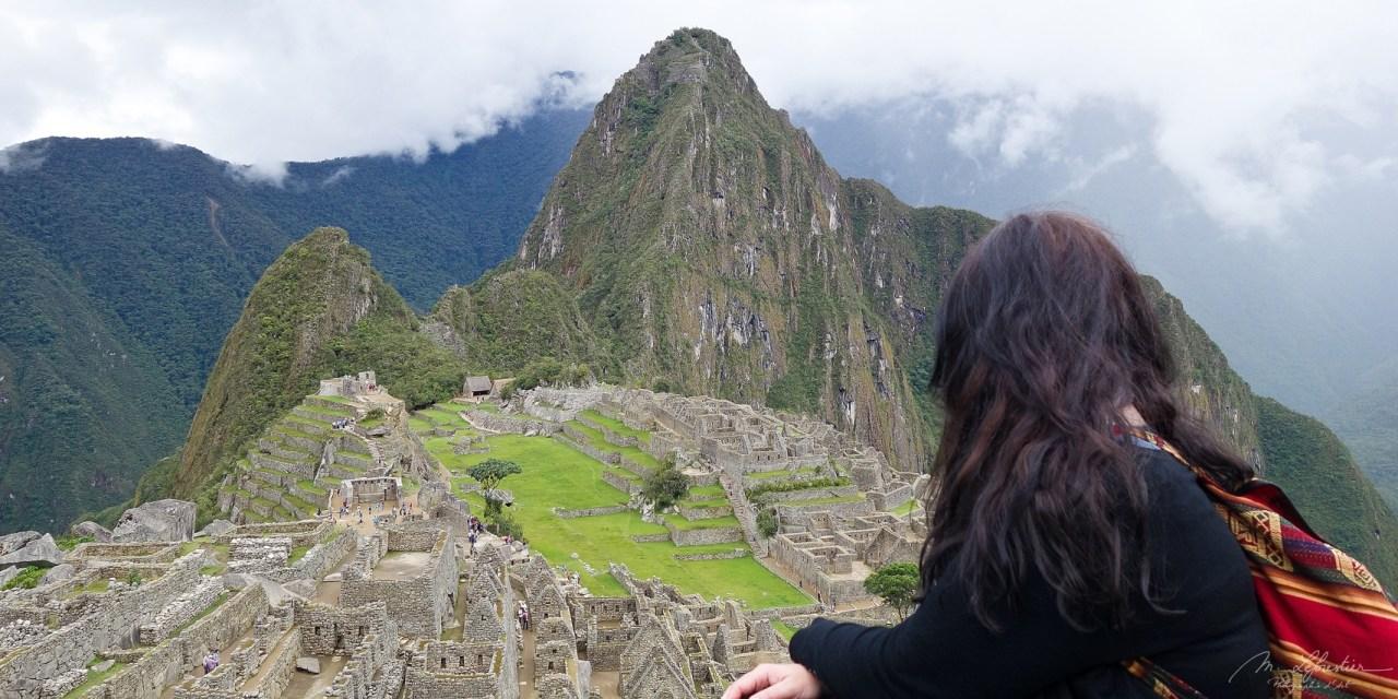 Contemplating the world wonder - Machu Picchu