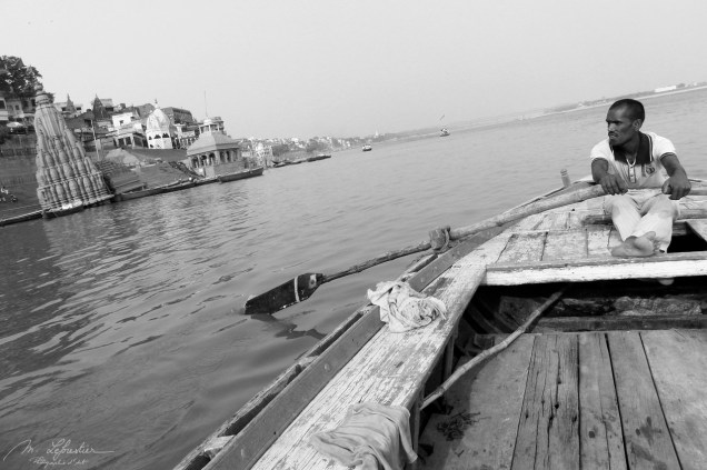boat ride on the Ganges in Varanasi India