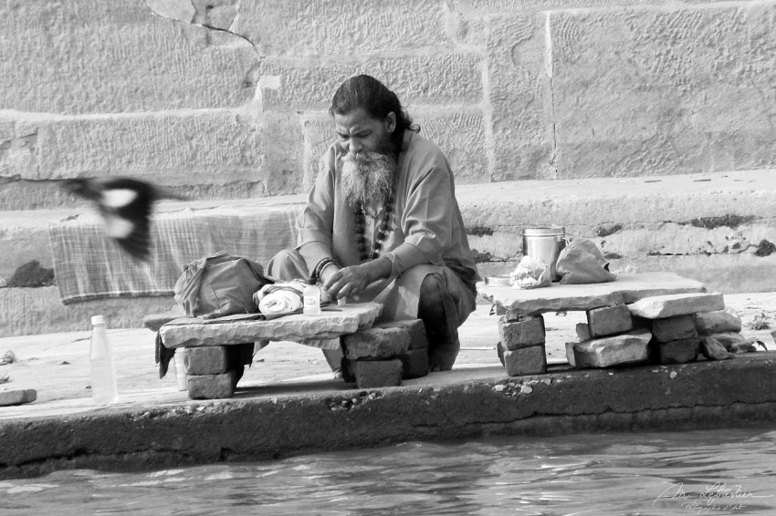 Spirituality by the Ganges in Varanasi India