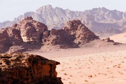 view on the Wadi Rum red desert of Lawrence of Arabia in Jordan