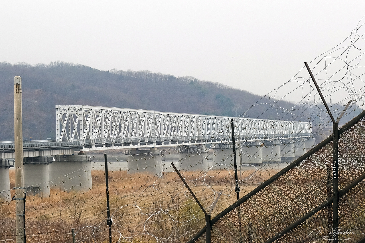view on the freedom bridge from the DMZ South Korea