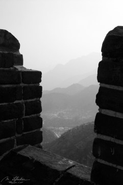 view from Great Wall in Badaling