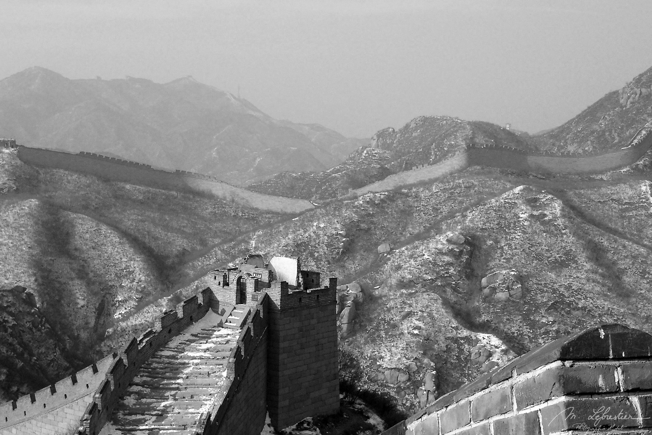 view Great Wall in Badaling China