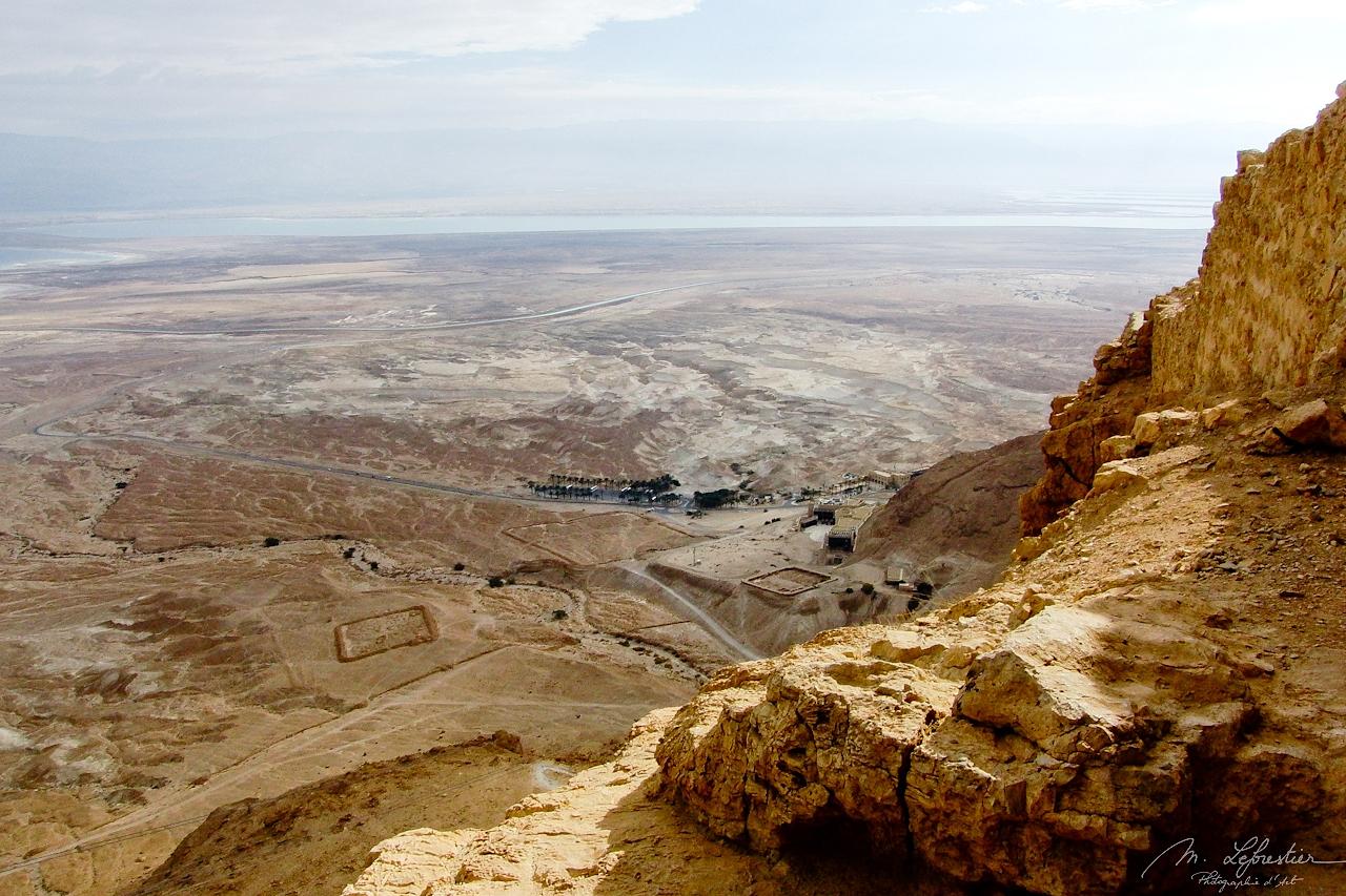 Masada desert fortress in Israel UNESCO world heritage center