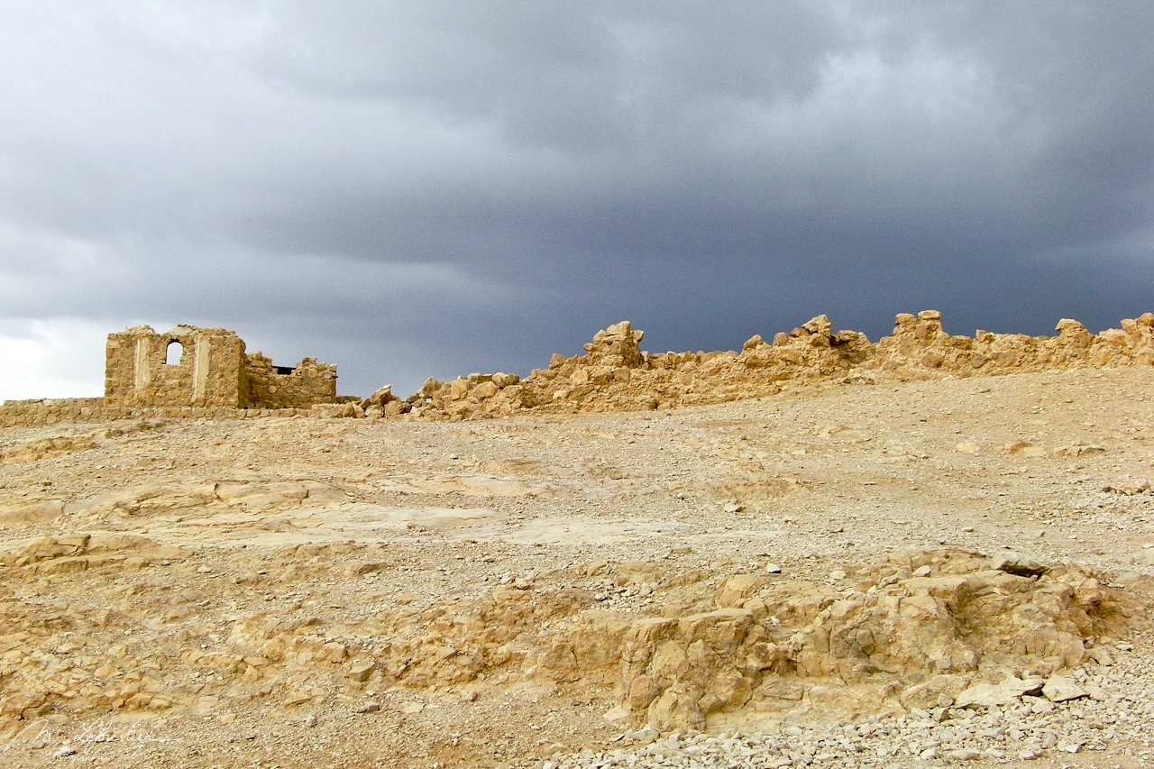ruins of Masada untouched for 13 centuries the only unesco world heritage site in Israel