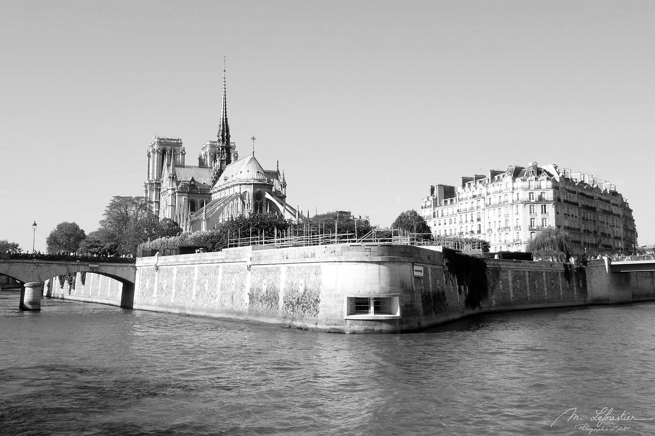 Paris Cathedral Notre Dame de Paris before the fire in 2019