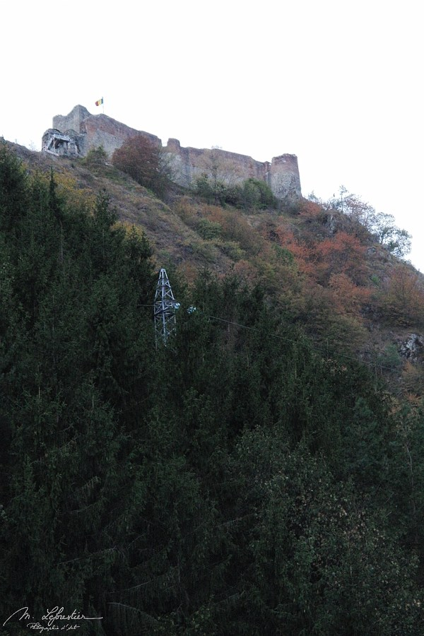 view on the Poenari castle from the bottom