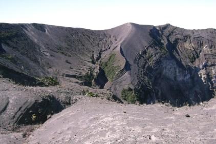 Volcano Poas crater active Costa Rica