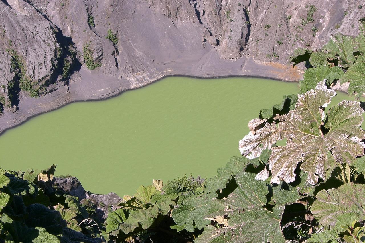 Volcano Poas active crater green costa rica travel photographer