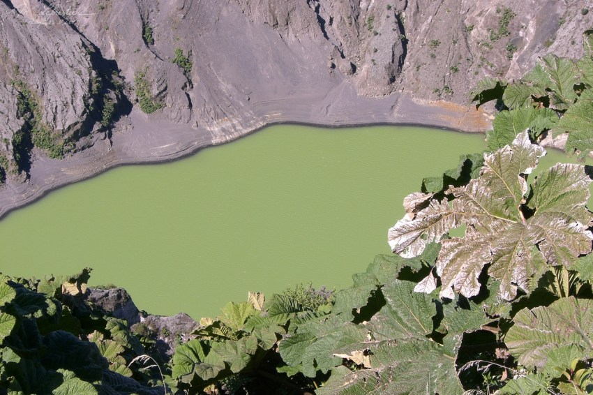 Volcano Poas active crater green costa rica travel photographer