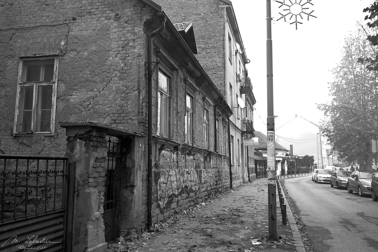 Tuzla in Bosnia Herzegovina black and white photography