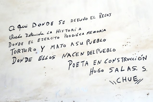 a tag Hugo Salas in Chacabuco Pinochet prison camp ex mining town in the Atacama desert in Chile