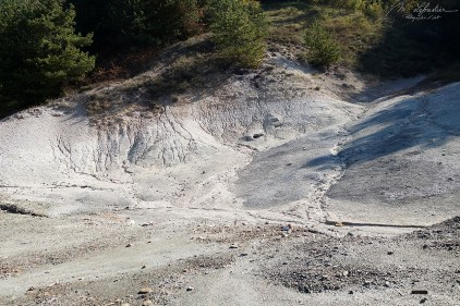 crater of Duvalo volcano in Macedonia