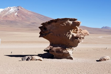 rock formations in the desert in Bolivia