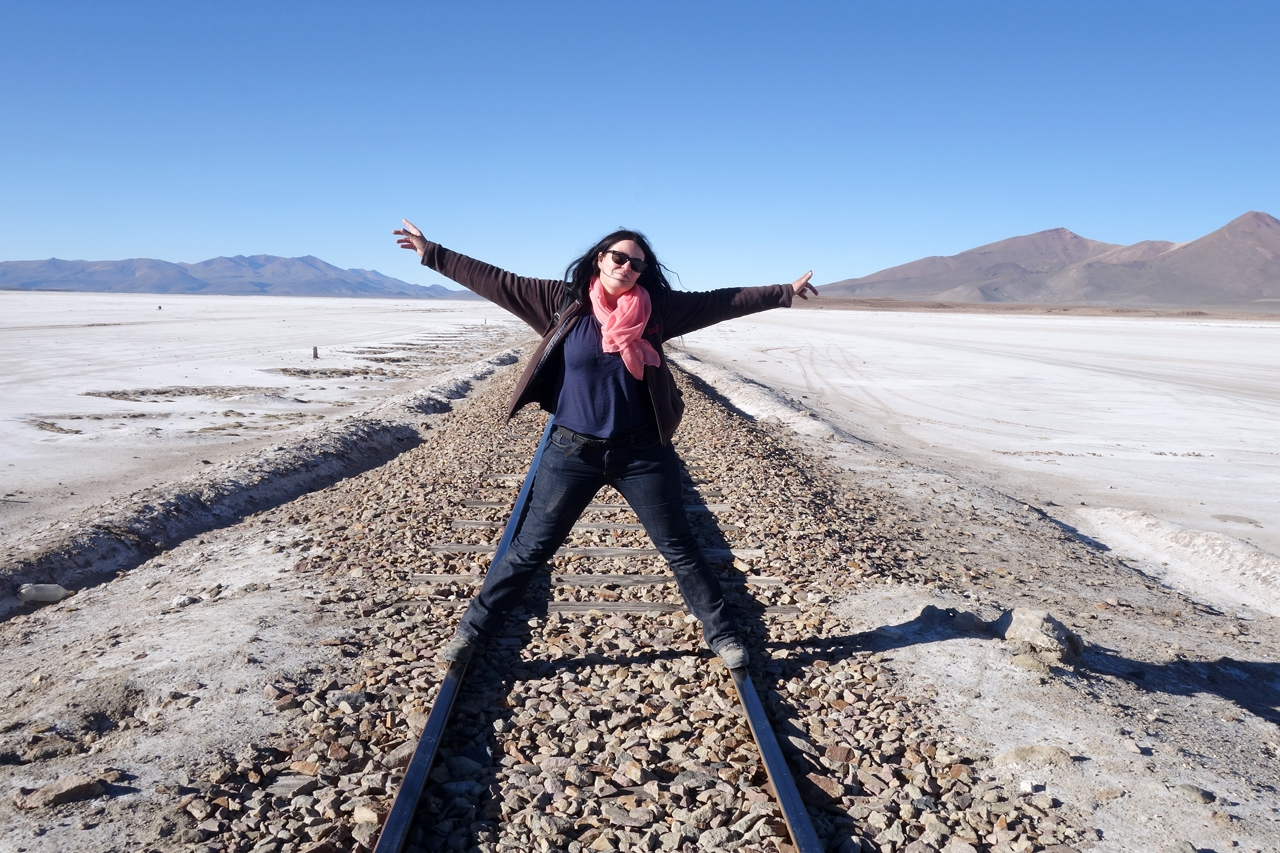 Myriam Leforestier aiming for the world on railtracks in Bolivia