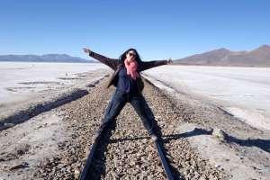 Myriam Leforestier aiming for the world on railtracks in Bolivia