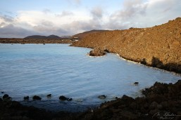 view on the blue lagoon in Iceland outside the touristic area