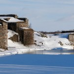 the Suomenlinna in the wintertime undert the snow