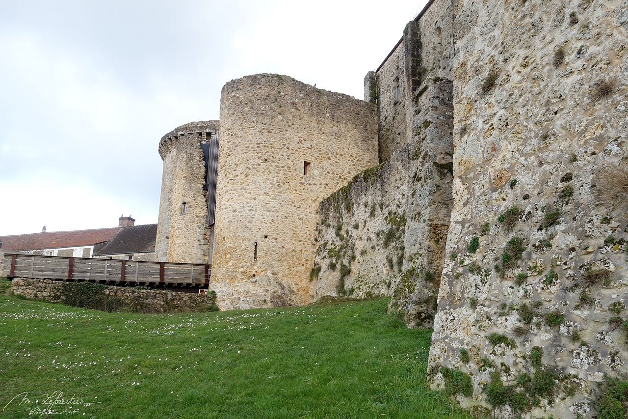 view on the entrance of the chateau de la Madeleine in Chevreuse France