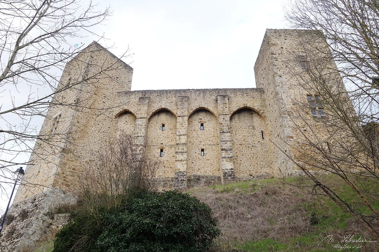 beautiful side view of the chateau de la Madeleine in Chevreuse ile de France