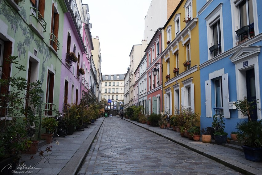 rue Crémieux in Paris, French Capital, the most colorful street of the city