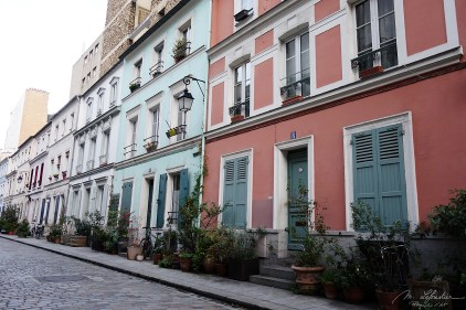 colorful buildings in the Rue Cremieux in Paris capital of France