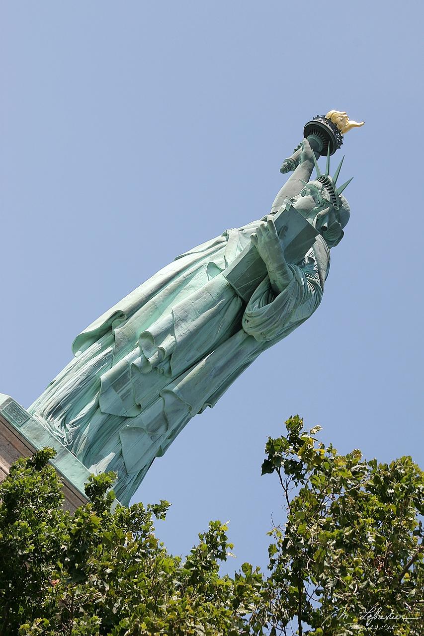 Statue de la Liberté sur Ellis Island à New York USA